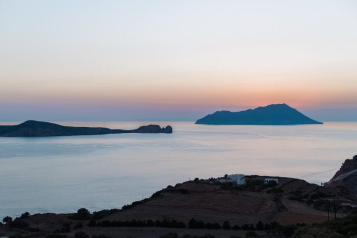Sunset at Milos Island Greece