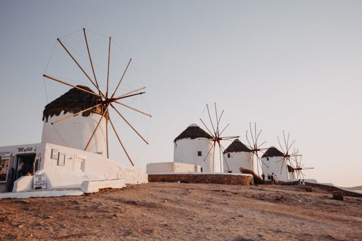 Mykonos Windmills sunset