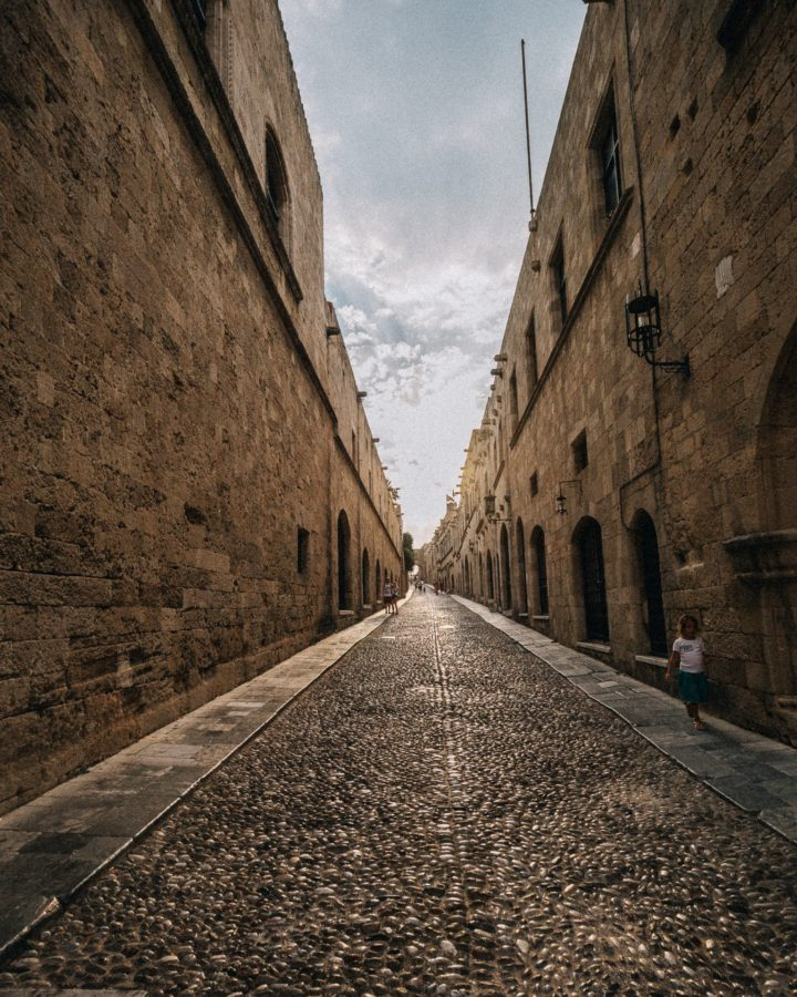 The street of knights, Rhodes Island